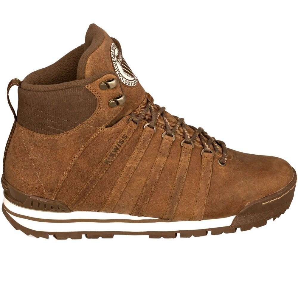 k swiss classic hiker herren stiefel winterstiefel braun oder grau ebay. Black Bedroom Furniture Sets. Home Design Ideas