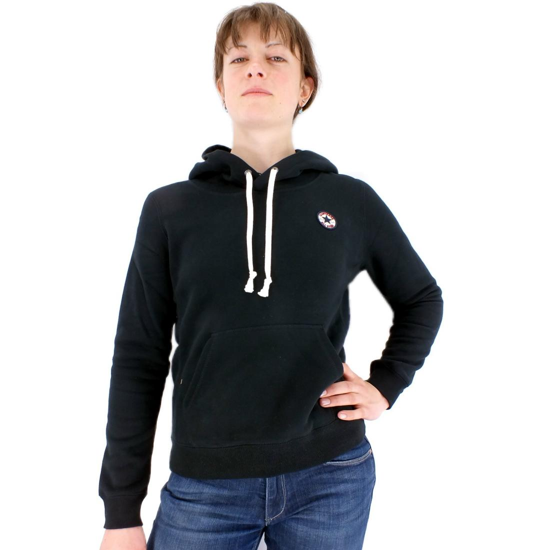converse awk core popover hoodie damen pullover. Black Bedroom Furniture Sets. Home Design Ideas