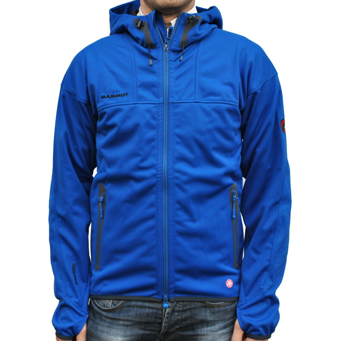 buy popular 76c45 4a86a Mammut Ultimate Hoody Men Soft Shell Jacke Blau Cruise ...