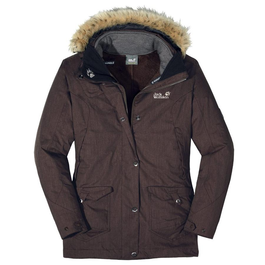 jack wolfskin wave hill parka women coffee brown damen. Black Bedroom Furniture Sets. Home Design Ideas