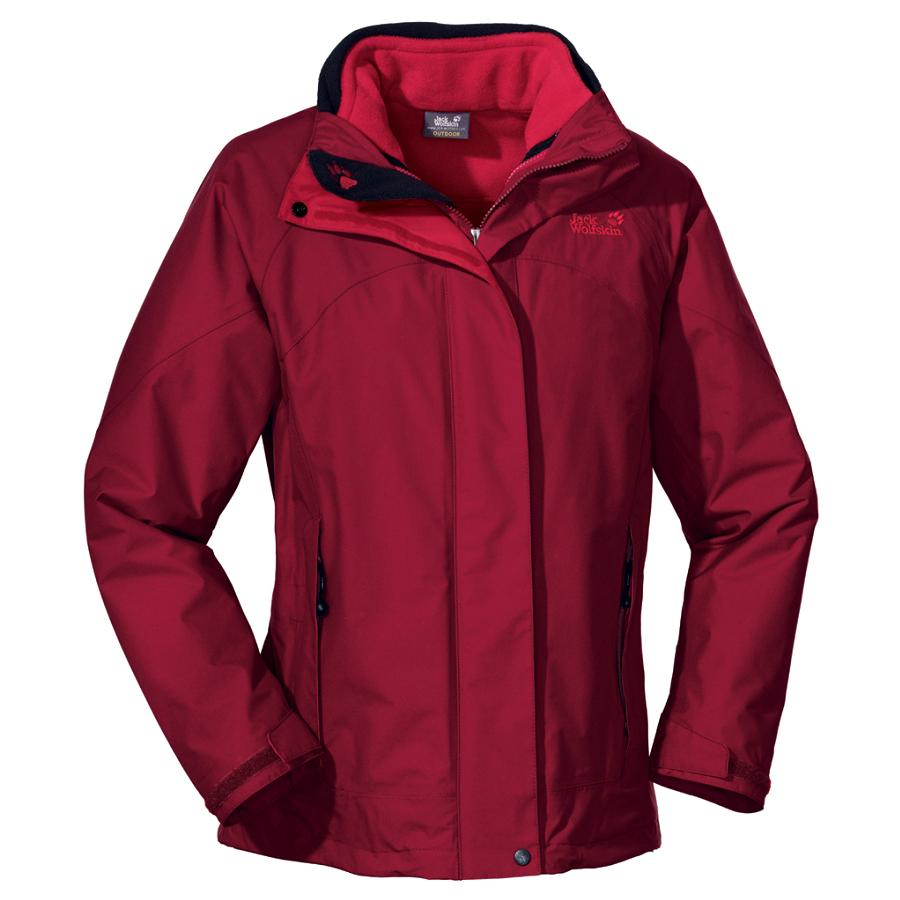 jack wolfskin frozen elements jacke winterjacke outdoorjacke damen rot. Black Bedroom Furniture Sets. Home Design Ideas