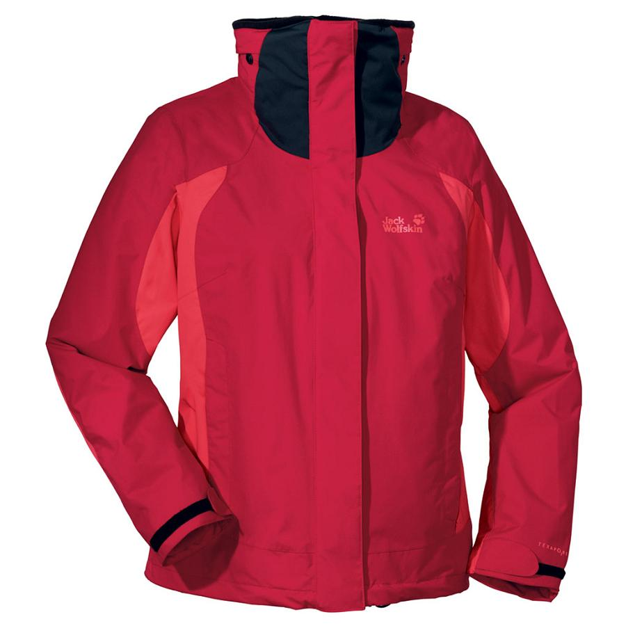 jack wolfskin high fidelity jacke winterjacke damen rot blau ebay. Black Bedroom Furniture Sets. Home Design Ideas