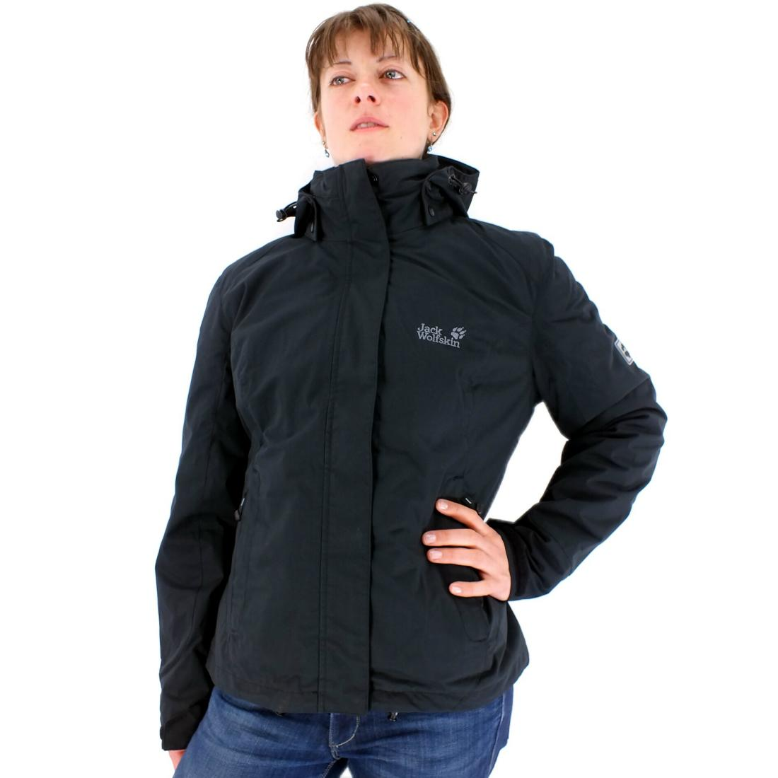 jack wolfskin central park women l damen jacke 3 in 1 schwarz neu ebay. Black Bedroom Furniture Sets. Home Design Ideas