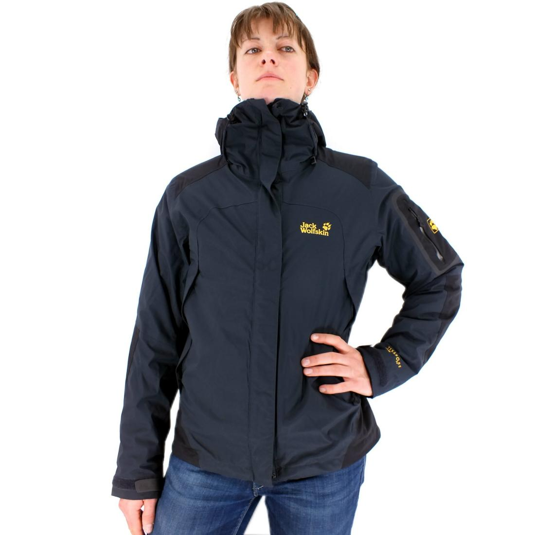 jack wolfskin cascade mountain women damen dunkelblau jacke winterjacke skijacke ebay. Black Bedroom Furniture Sets. Home Design Ideas