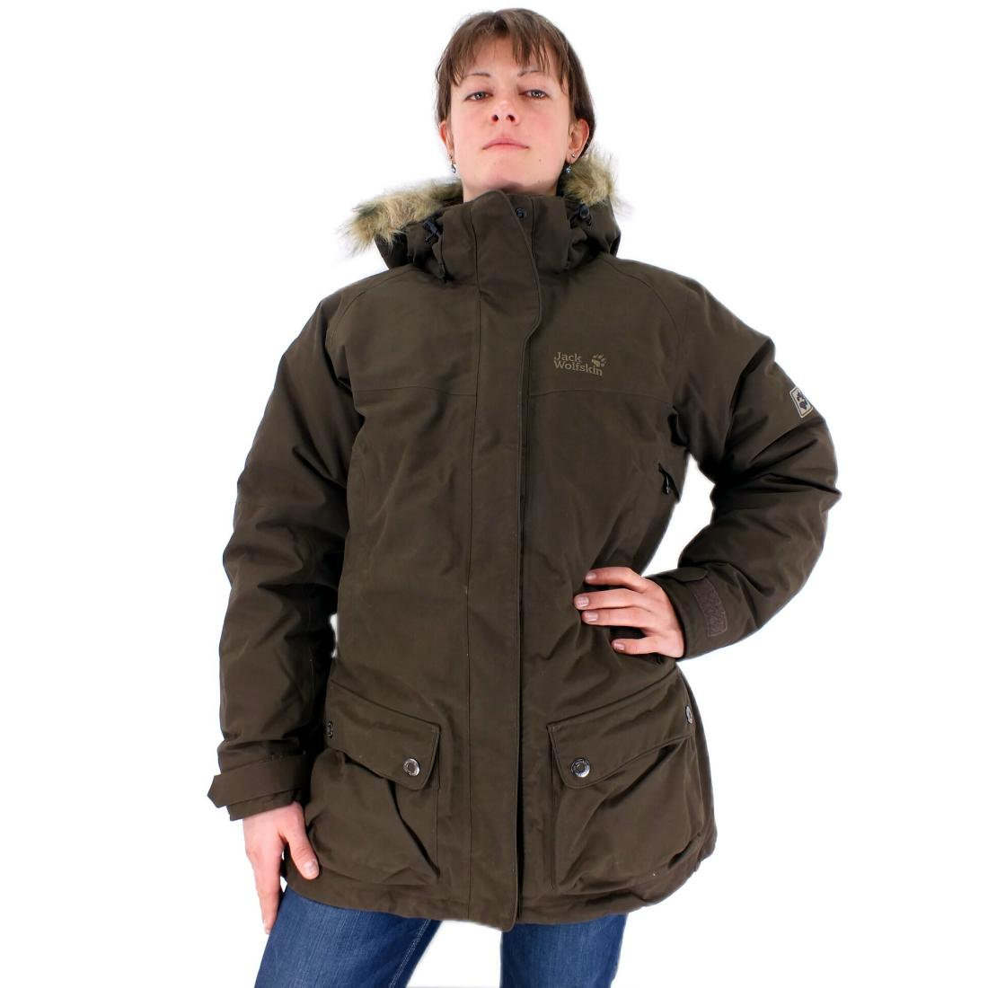 jack wolfskin anchorage parka braun damen daunenparka winterjacke jacke outdoor ebay. Black Bedroom Furniture Sets. Home Design Ideas