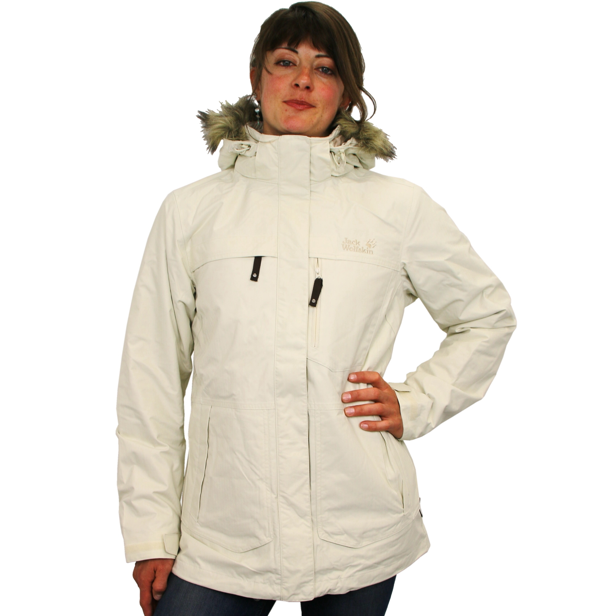 jack wolfskin montreal parka wintermantel winterjacke outdoor mantel jacke damen ebay. Black Bedroom Furniture Sets. Home Design Ideas