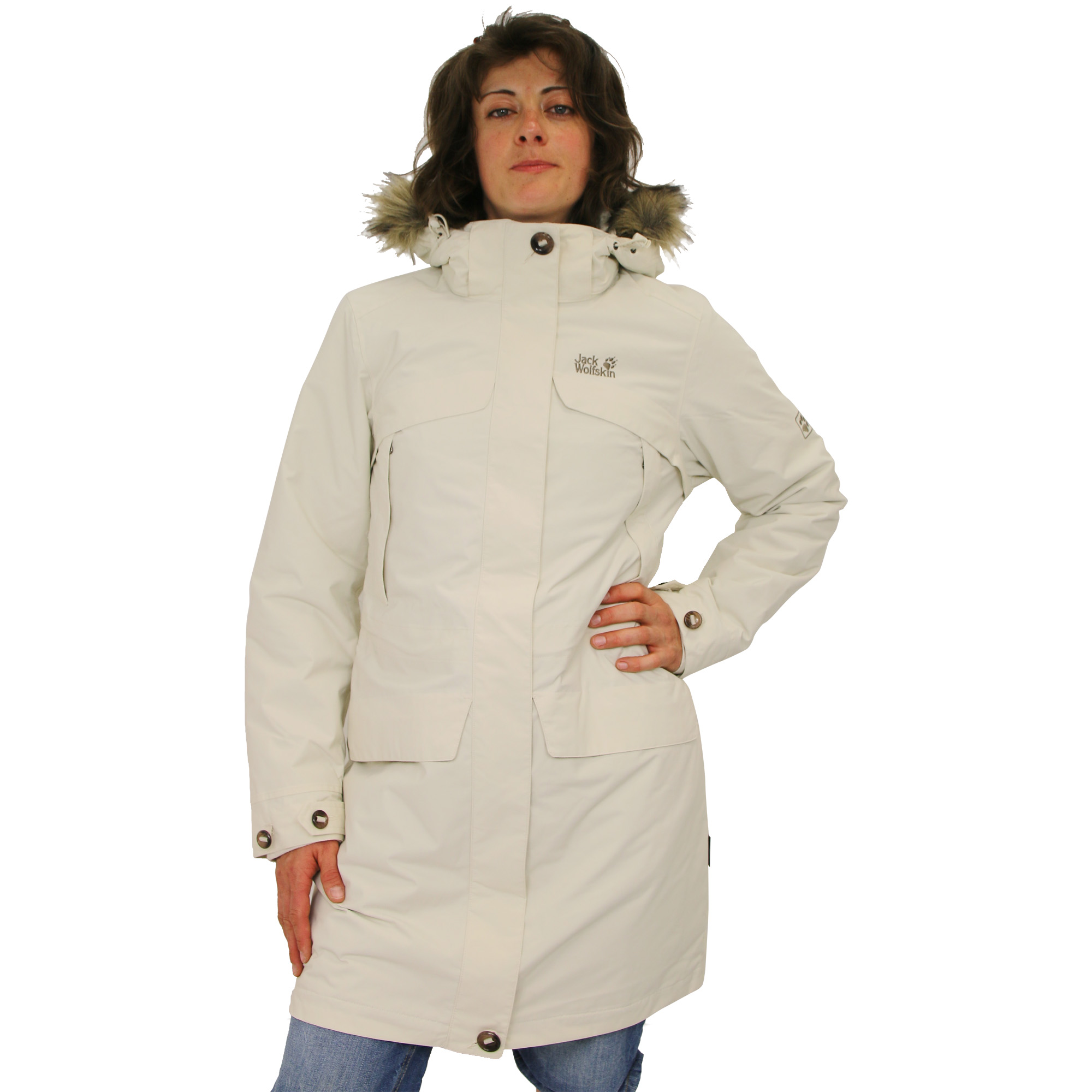 jack wolfskin white rock coat jacket winter coat women ebay. Black Bedroom Furniture Sets. Home Design Ideas