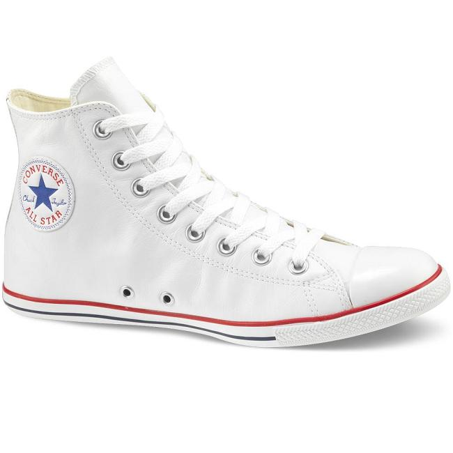 converse chucks as slim hi wei leder schuhe 42 5 us 9 ebay. Black Bedroom Furniture Sets. Home Design Ideas