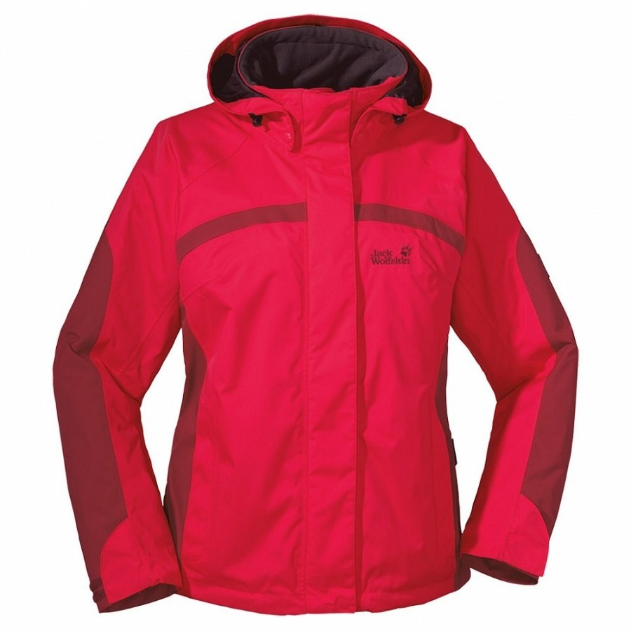 jack wolfskin topaz jacket winterjacke jacke wander trekkking outdoor damen rot ebay. Black Bedroom Furniture Sets. Home Design Ideas