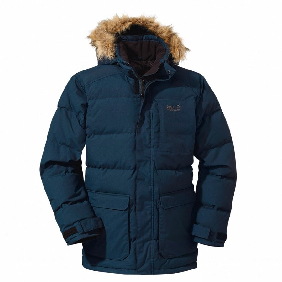 jack wolfskin lakota parka winterjacke mantel winter jacke daunen jacke herren ebay. Black Bedroom Furniture Sets. Home Design Ideas