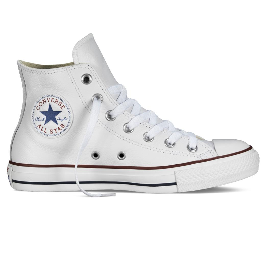 converse chuck taylor all star hi leder schuhe wei leder sneaker ebay. Black Bedroom Furniture Sets. Home Design Ideas