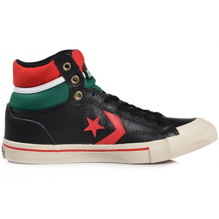 converse pro blaze hi schuhe high top sneaker herren leder wei schwarz ebay. Black Bedroom Furniture Sets. Home Design Ideas