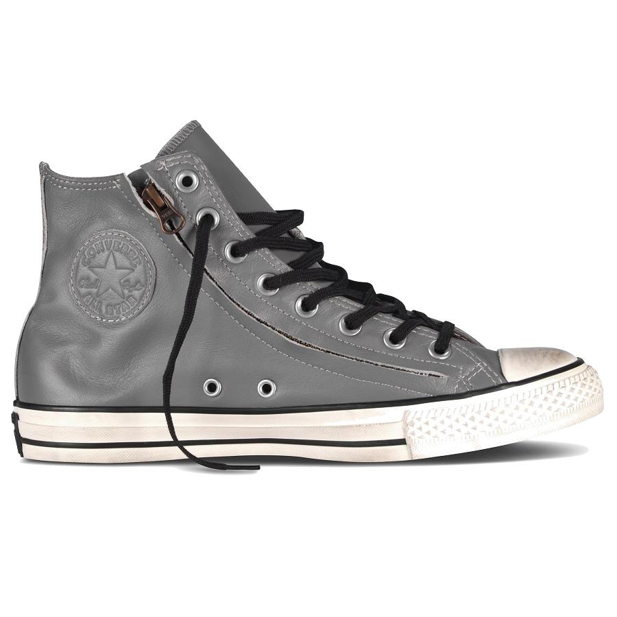converse chuck taylor double zip hi schuhe high top sneaker leder schwarz grau. Black Bedroom Furniture Sets. Home Design Ideas