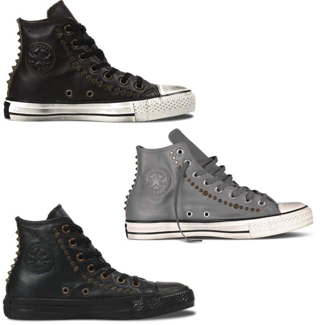 converse chuck taylor all star hi studded schuhe high top sneaker damen herren. Black Bedroom Furniture Sets. Home Design Ideas