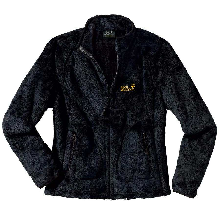 jack wolfskin soft asylum damen jacke fleecejacke winterjacke schwarz ebay. Black Bedroom Furniture Sets. Home Design Ideas