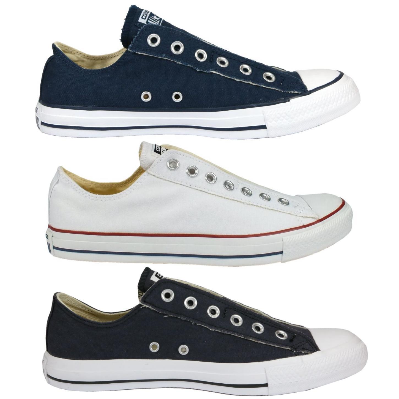 converse as slip ox schuhe sneaker slipper herren damen grau braun ebay. Black Bedroom Furniture Sets. Home Design Ideas