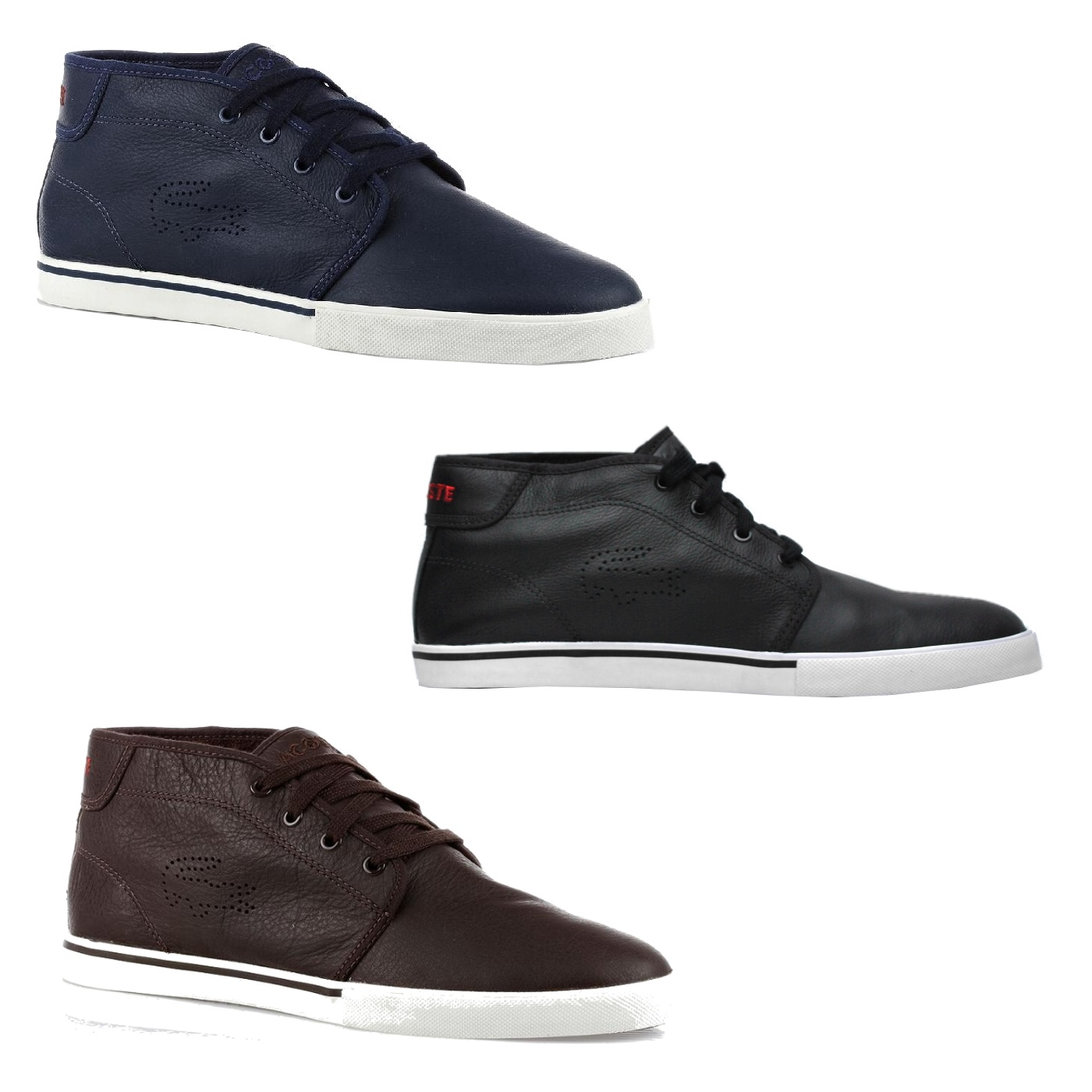 lacoste ampthill ci spm schuhe herren sneaker leder diverse farben ebay. Black Bedroom Furniture Sets. Home Design Ideas