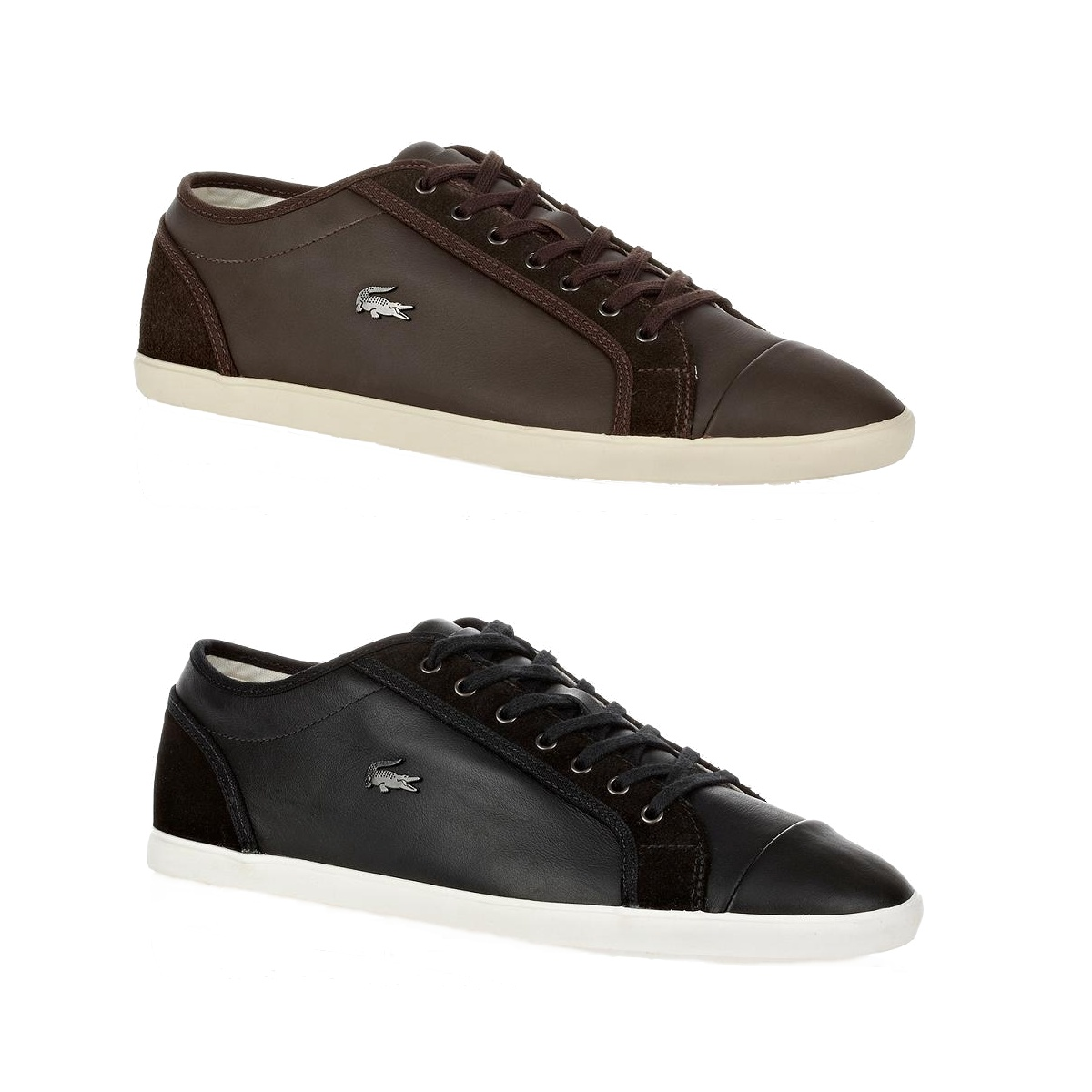 lacoste berber 9 schuhe sneaker herren leder schwarz und. Black Bedroom Furniture Sets. Home Design Ideas