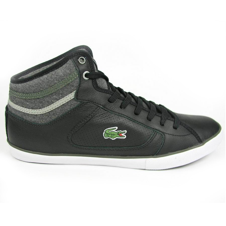 lacoste camous cor spm schuhe sneaker herren leder wei schwarz ebay. Black Bedroom Furniture Sets. Home Design Ideas