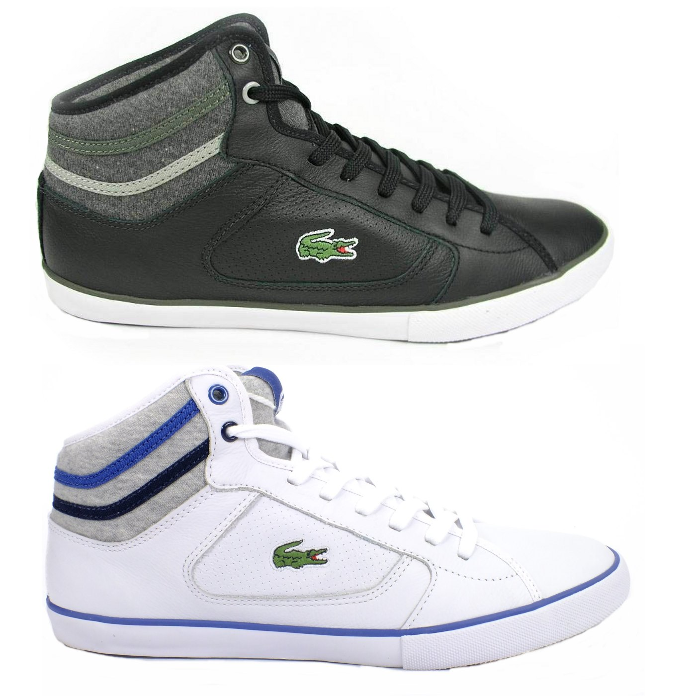 lacoste camous cor spm schuhe sneaker herren leder wei schwarz. Black Bedroom Furniture Sets. Home Design Ideas