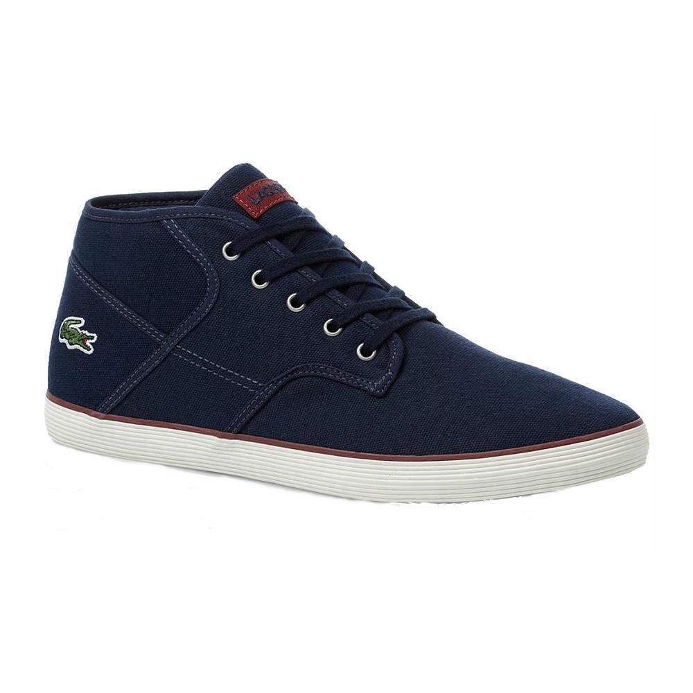 lacoste andover mid cll spm schuhe sneaker high top herren blau grau. Black Bedroom Furniture Sets. Home Design Ideas