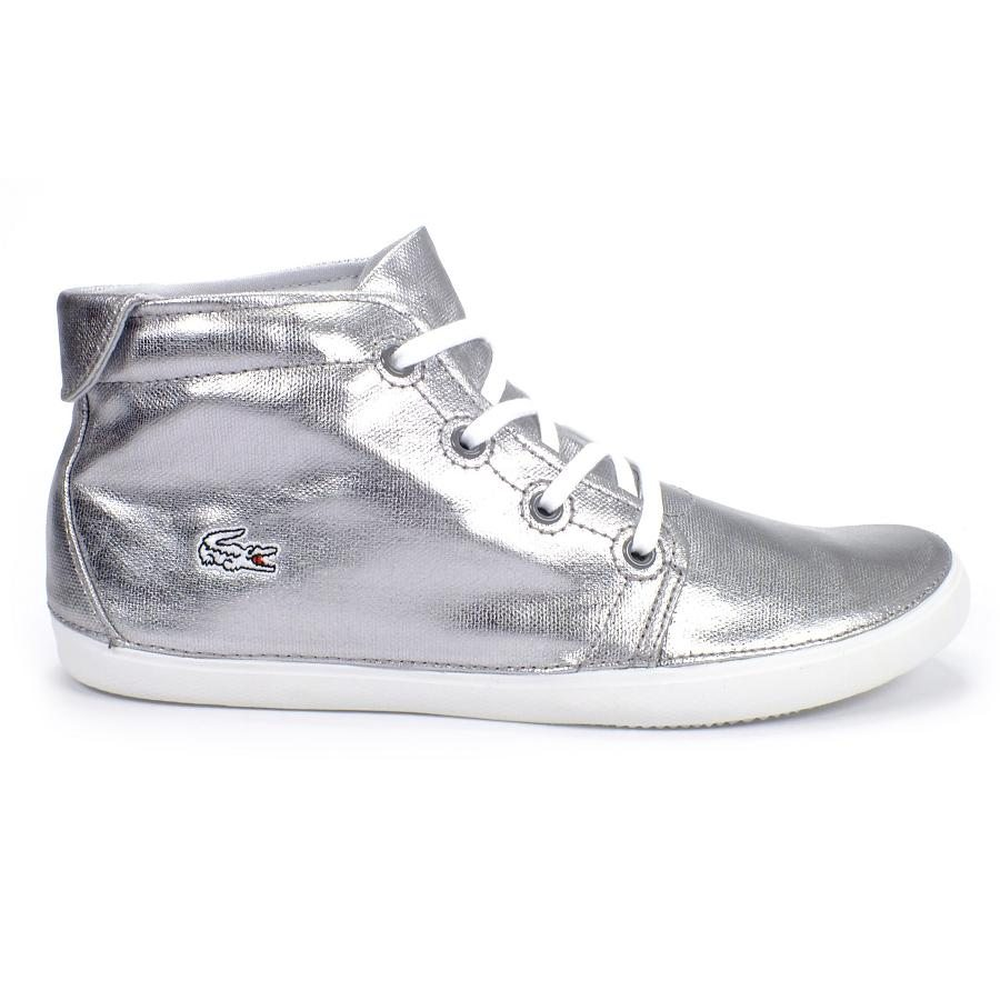 lacoste ziane chukka schuhe sneaker high top damen silber ebay. Black Bedroom Furniture Sets. Home Design Ideas