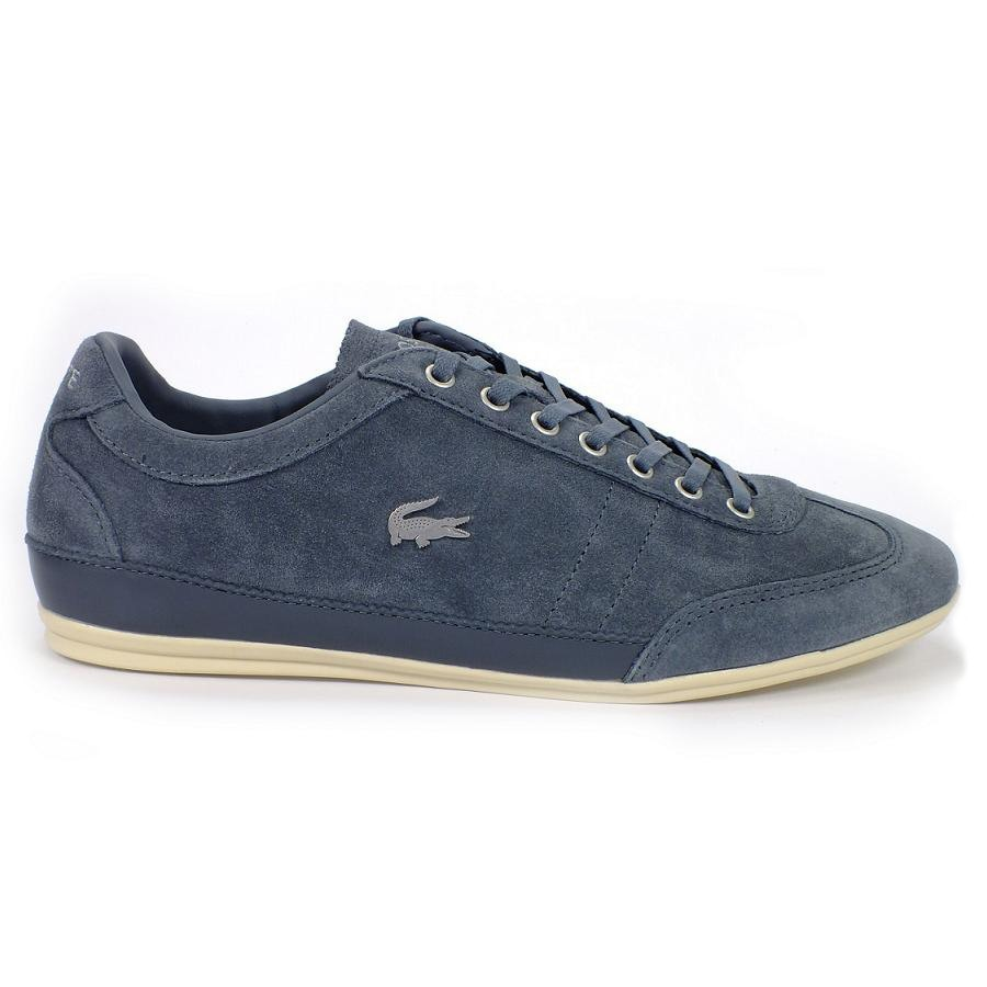lacoste misano 21 schuhe sneaker herren wildleder blau. Black Bedroom Furniture Sets. Home Design Ideas