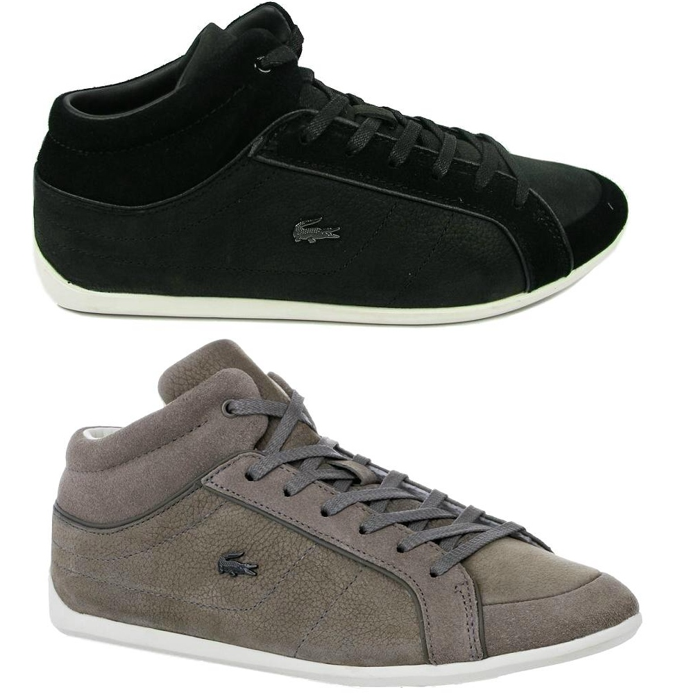 lacoste missano mid 3 schuhe sneaker damen schwarz grau ebay. Black Bedroom Furniture Sets. Home Design Ideas
