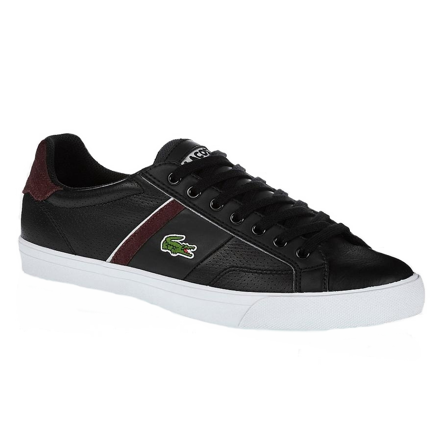 lacoste fairlead col sneaker turnschuhe sport schuhe herren schwarz blau leder ebay. Black Bedroom Furniture Sets. Home Design Ideas