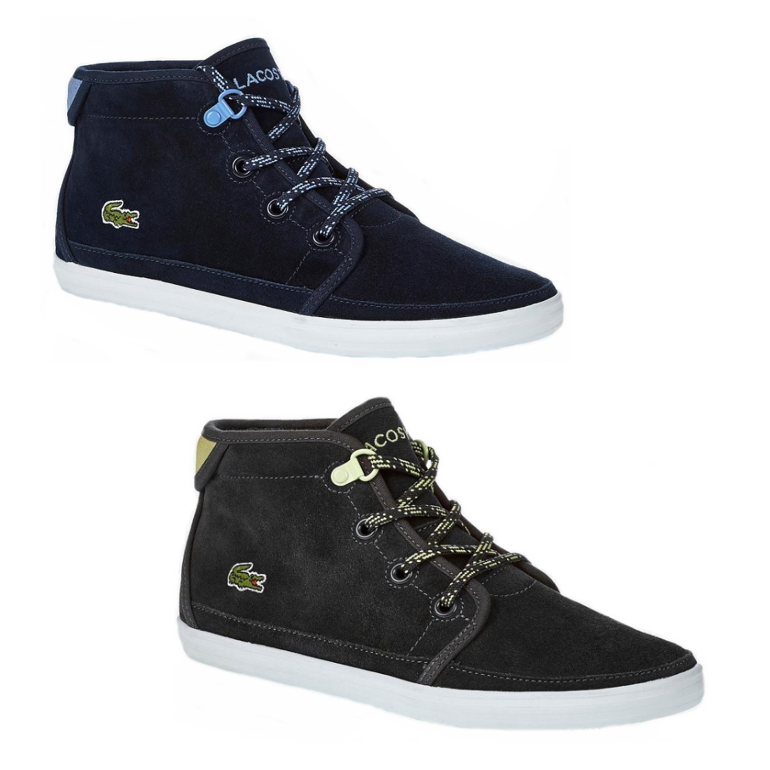 lacoste ziane chukka sneaker hi top turnschuhe schuhe damen grau blau leder ebay. Black Bedroom Furniture Sets. Home Design Ideas