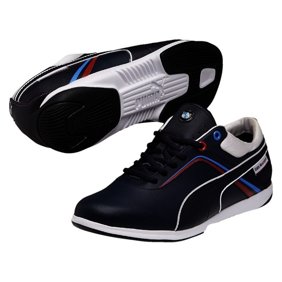 puma bmw ms ignite schuhe turnschuhe sneaker herren wei blau. Black Bedroom Furniture Sets. Home Design Ideas
