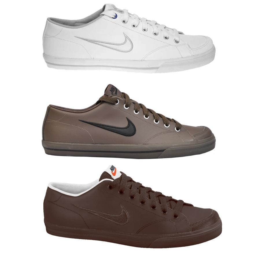 d2393594e82bd4 Das Bild wird geladen Nike-Capri-SI-Leder-Schuhe-Sneaker-Weiss-oder-