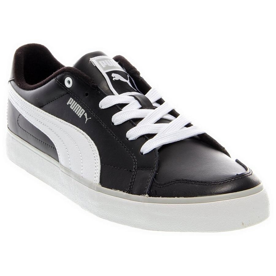 puma court classic schuhe sneaker herren schwarz ebay. Black Bedroom Furniture Sets. Home Design Ideas
