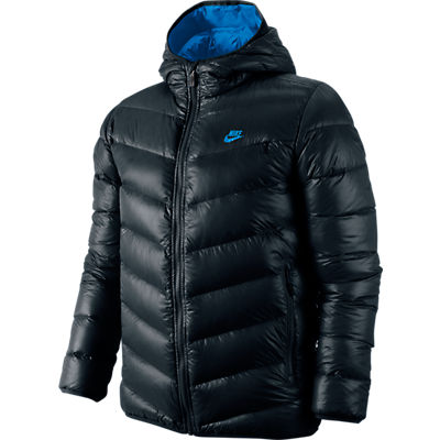 nike cascade 700 hooded down jacket jacke daunenjacke. Black Bedroom Furniture Sets. Home Design Ideas