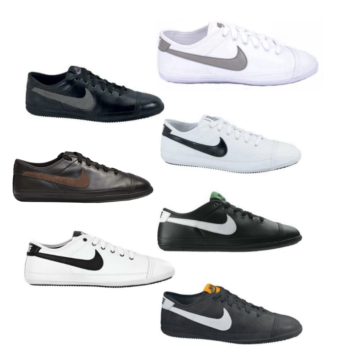 nike flash leather sneaker schuhe herren diverse farben ebay. Black Bedroom Furniture Sets. Home Design Ideas