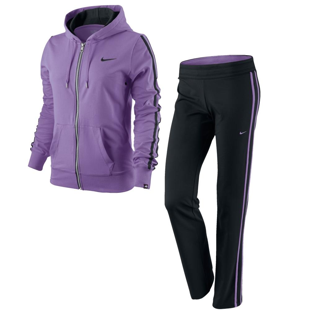 nike jersey hooded warm up damen trainingsanzug xs lila ebay. Black Bedroom Furniture Sets. Home Design Ideas