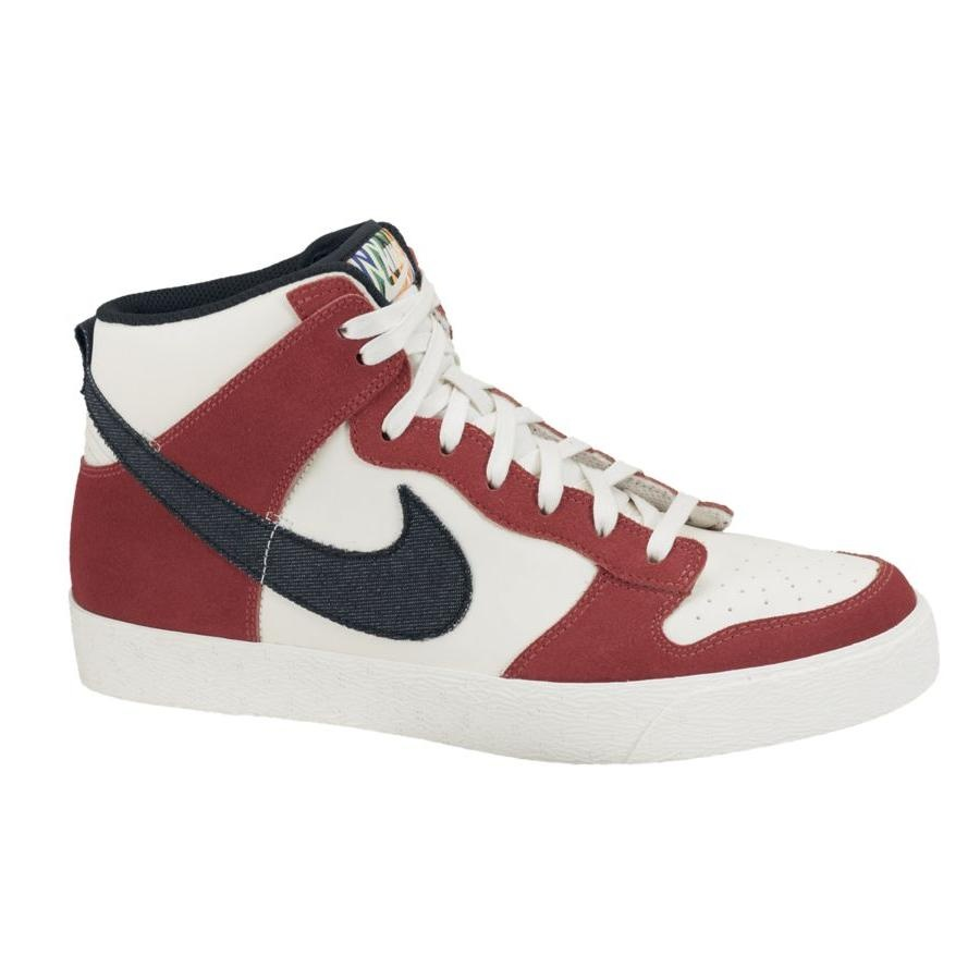 nike dunk high ac creamy beige rot herren damen schuhe. Black Bedroom Furniture Sets. Home Design Ideas
