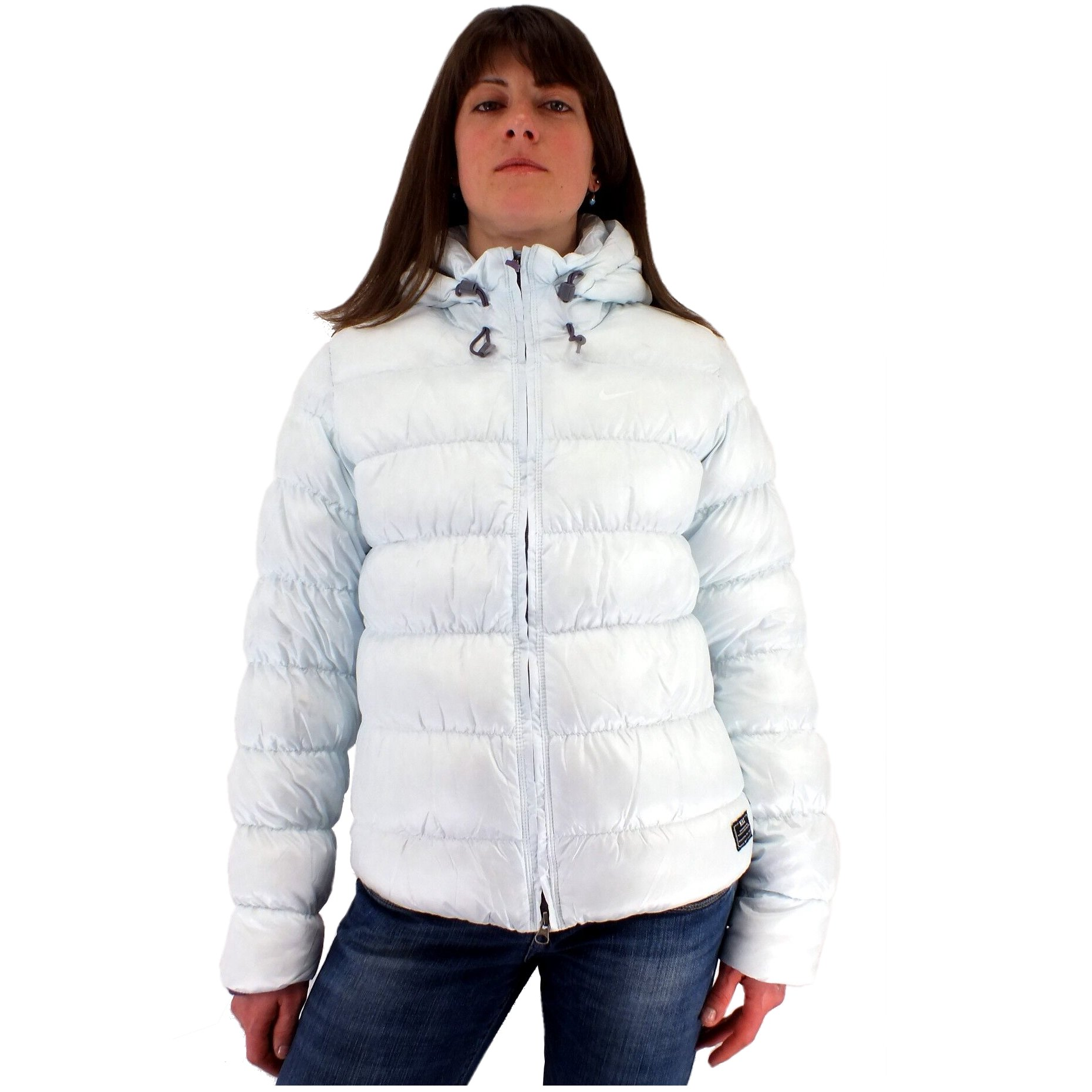 nike 800 fill down jacket silber damen daunenjacke 800er daune winterjacke ebay. Black Bedroom Furniture Sets. Home Design Ideas