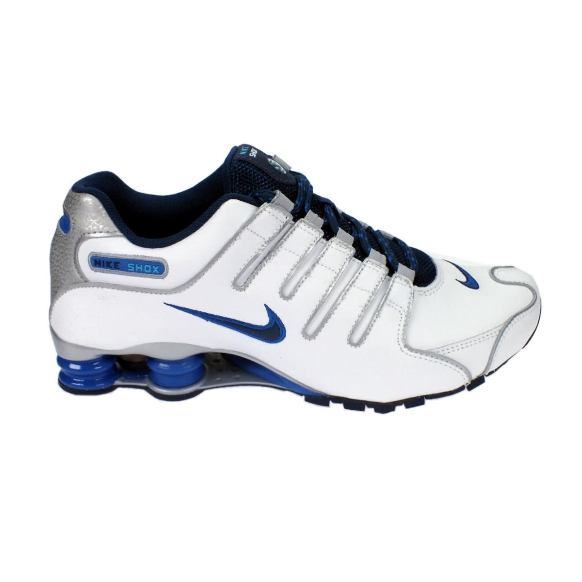 Nike-Shox-NZ-EU-Herren-Schuhe-Turnschuhe-Schwarz-Weiss