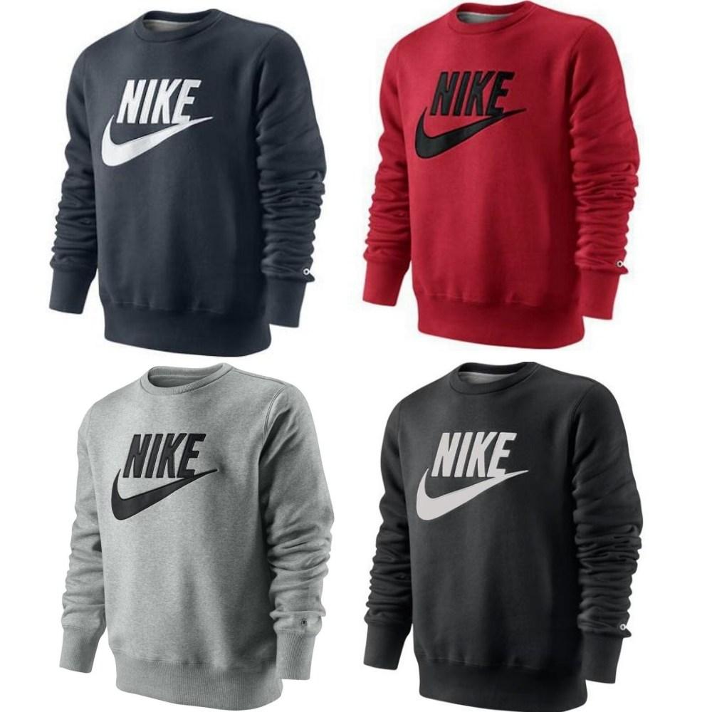 nike pl brushed crew 2 shirt sewatshirt pullover herren diverse farben ebay. Black Bedroom Furniture Sets. Home Design Ideas