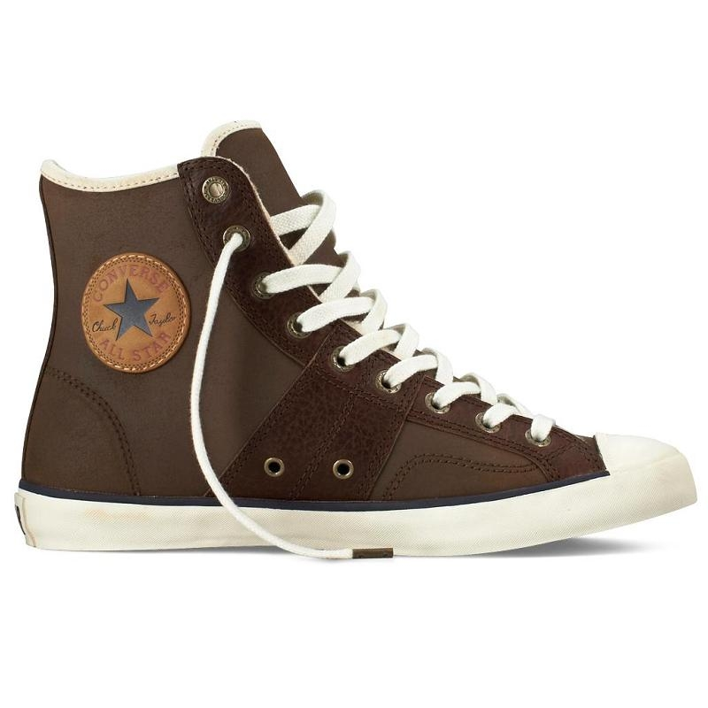 converse all star leather hi schuhe sneaker high top gef ttert damen. Black Bedroom Furniture Sets. Home Design Ideas