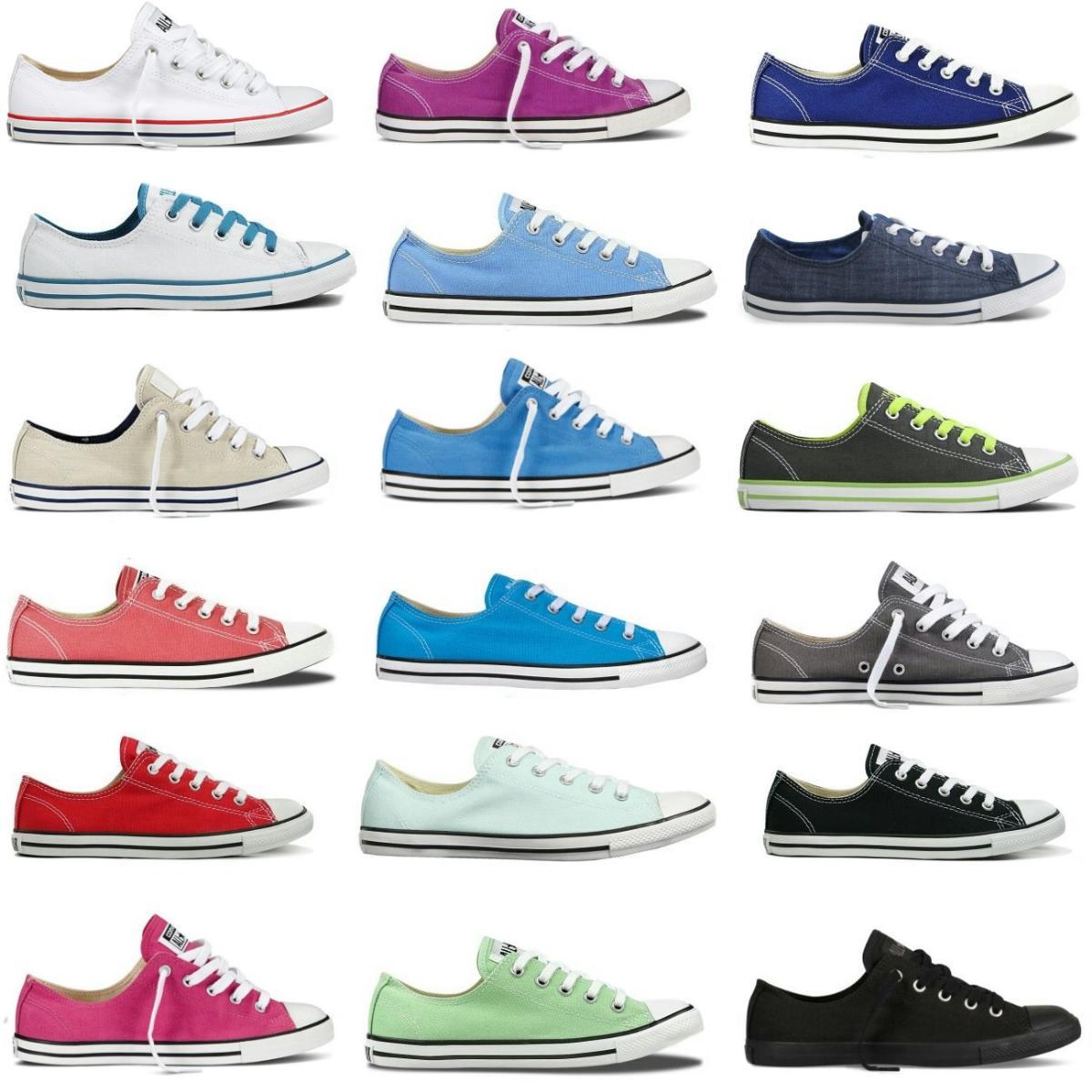 Details zu Converse Chucks All Star OX Canvas Schuhe Sneaker diverse Farben