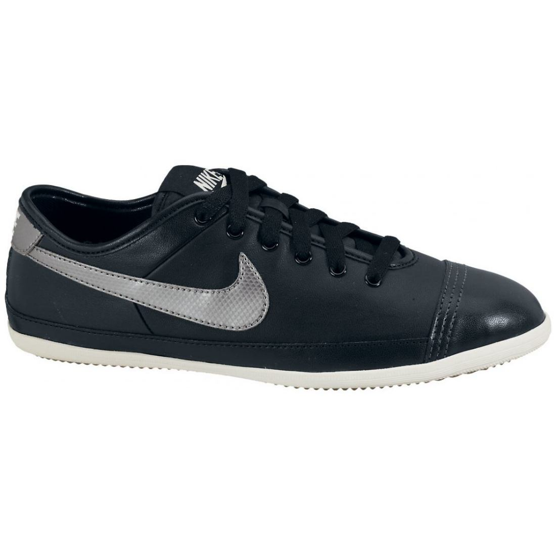 nike flash leather schuhe sneaker damen schwarz ebay. Black Bedroom Furniture Sets. Home Design Ideas