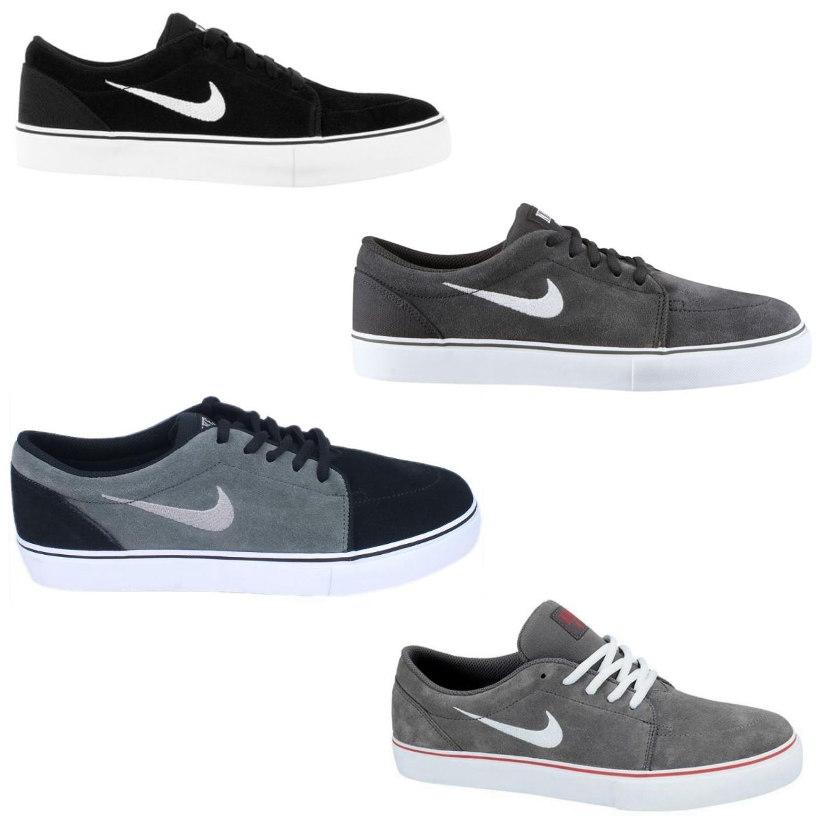 nike satire schuhe turnschuhe sneaker herren schwarz grau ebay. Black Bedroom Furniture Sets. Home Design Ideas