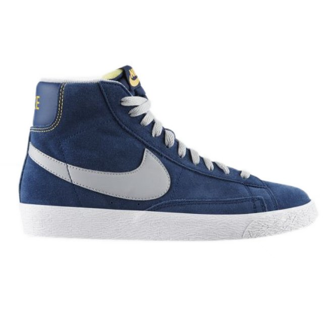 nike blazer mid vintage blau damen schuhe sneaker leder. Black Bedroom Furniture Sets. Home Design Ideas