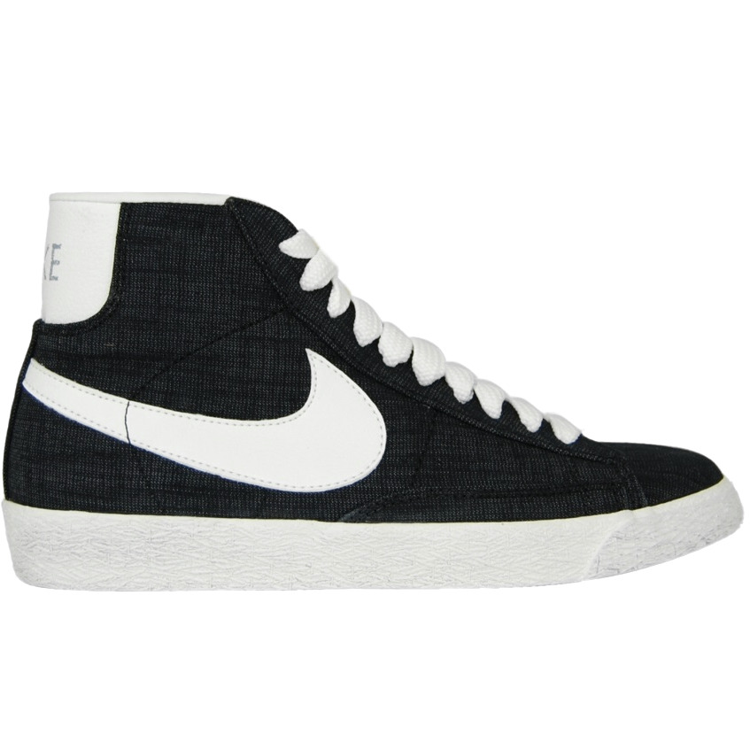 nike blazer mid prm vntg canvas schuhe sneaker high top herren schwarz ebay. Black Bedroom Furniture Sets. Home Design Ideas