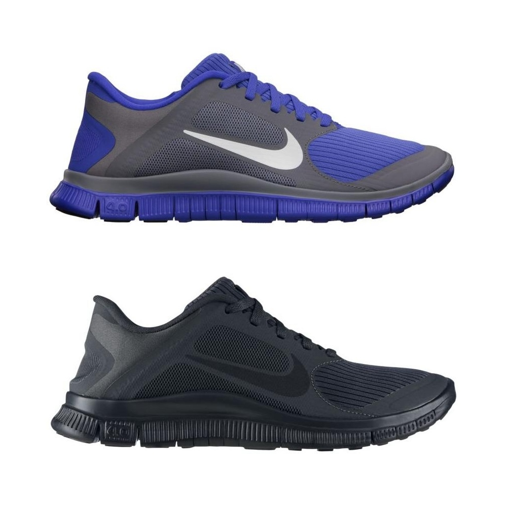 nike free 4 0 schuhe laufschuhe fitnessschuhe damen schwarz grau ebay. Black Bedroom Furniture Sets. Home Design Ideas
