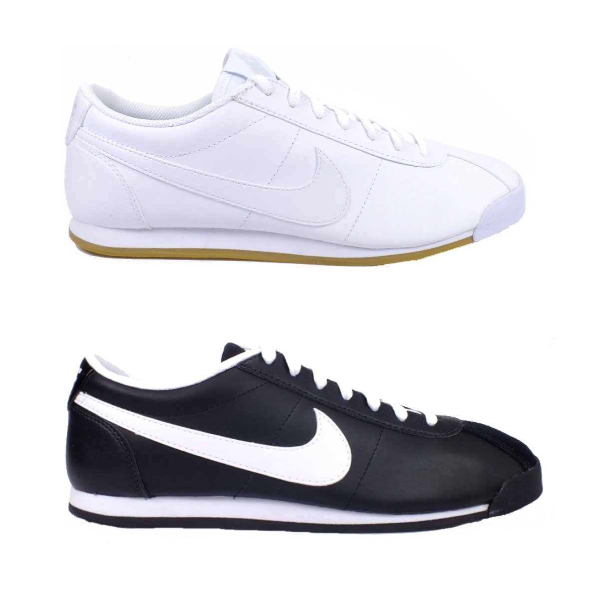nike riviera leather leder schuhe sneaker herren schwarz wei ebay. Black Bedroom Furniture Sets. Home Design Ideas