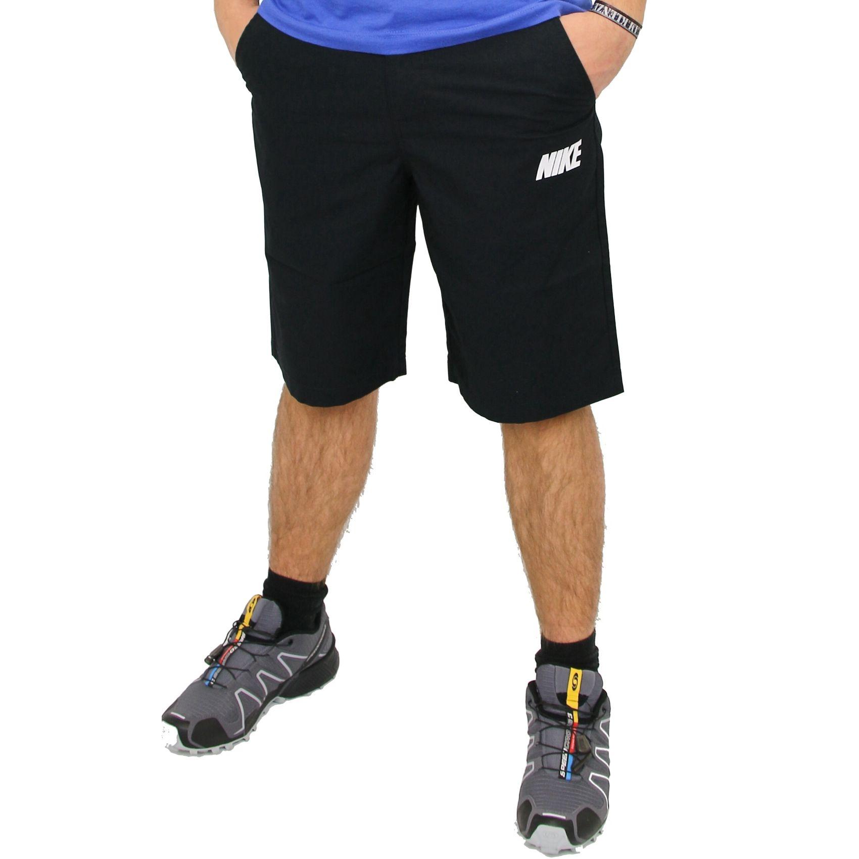 nike basic shorts hose kurz sporthose herren schwarz ebay. Black Bedroom Furniture Sets. Home Design Ideas