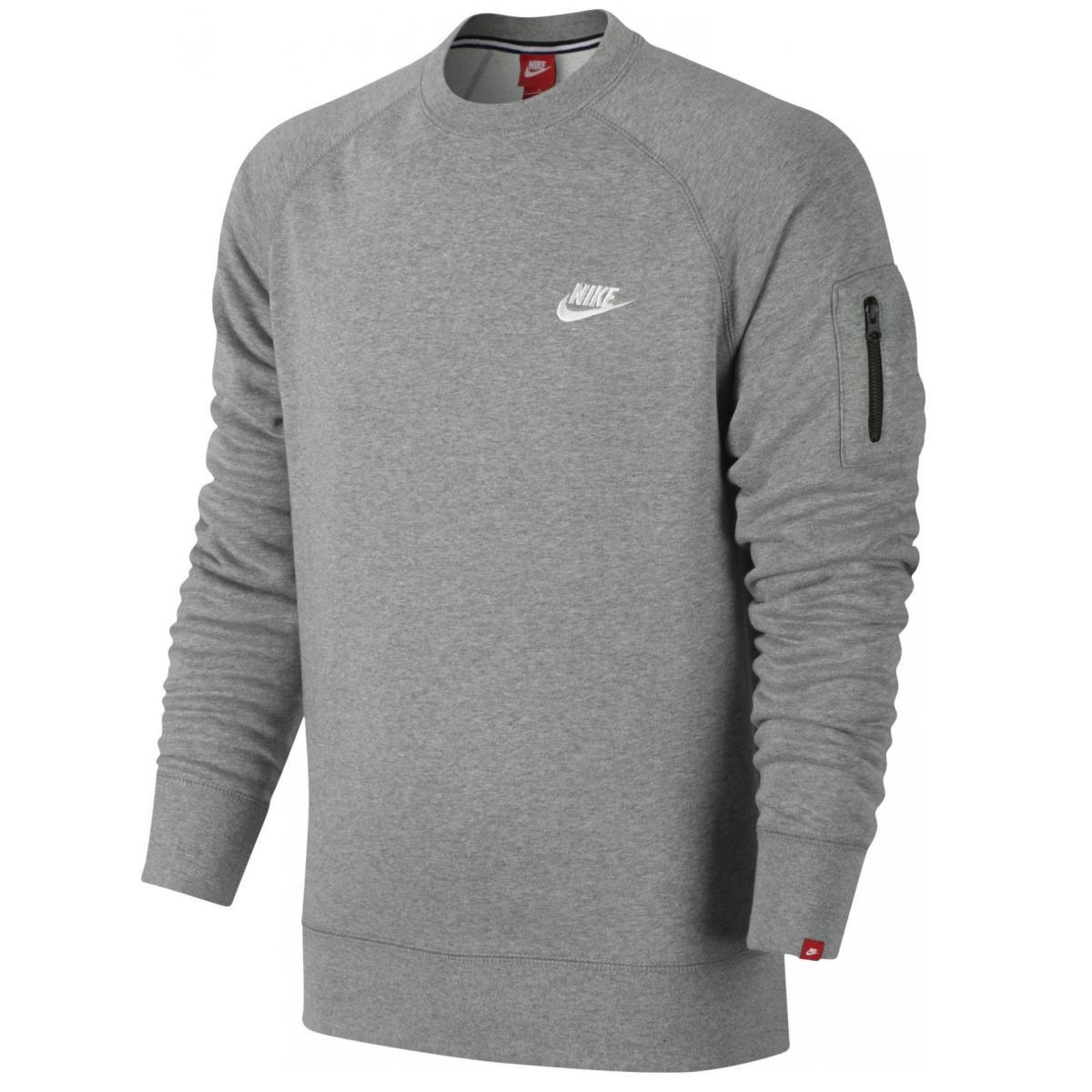 nike ace fleece crew herren pullover sweatshirt ebay. Black Bedroom Furniture Sets. Home Design Ideas